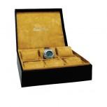 EDEN ROC Uhrenbox für Sammler (schwarz)